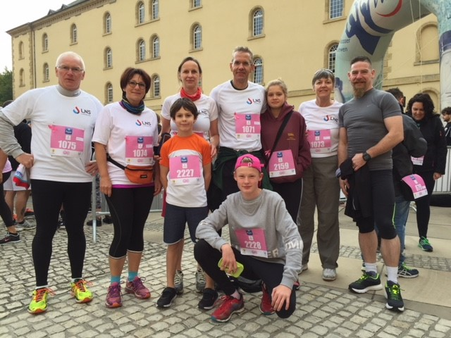 Une équipe du LNS au Broschtkriibslaf 2017
