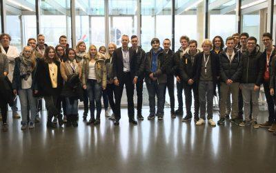 Visite d'élèves du Lycée Aline Mayrisch