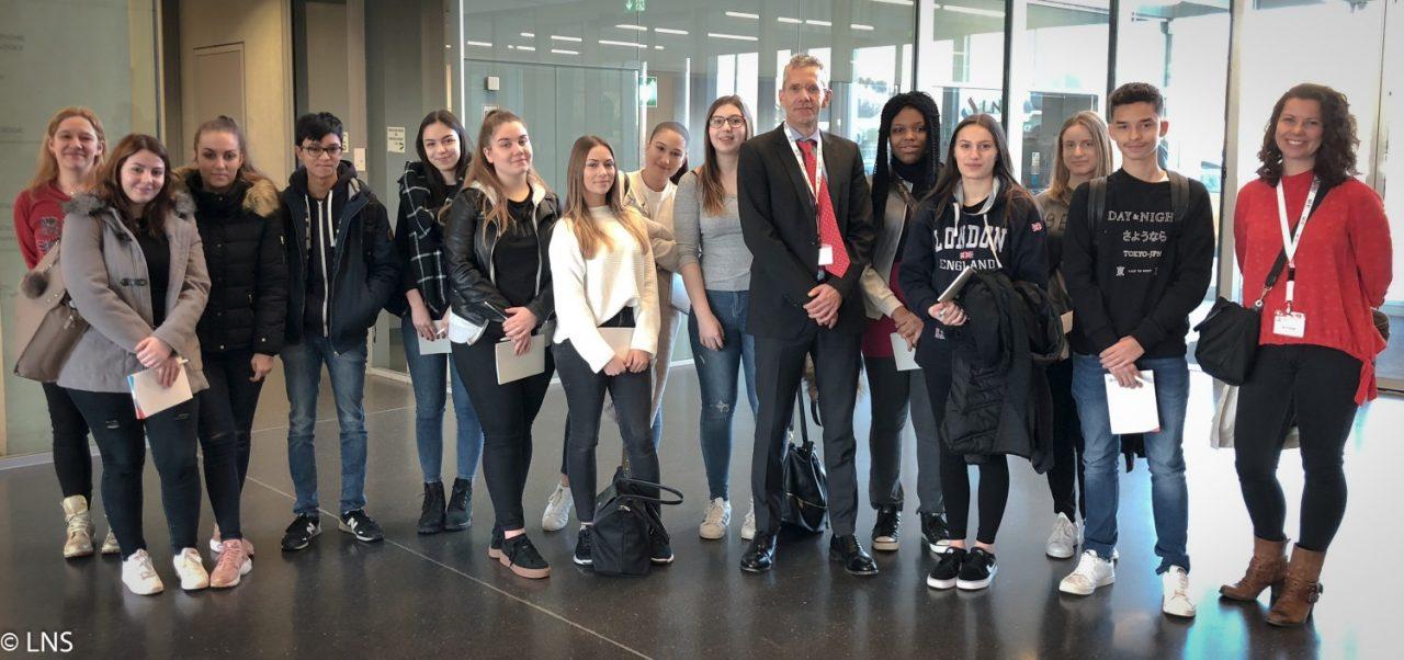 Visite d'une classe de 3e GSN du Lycée Technique Mathias Adam
