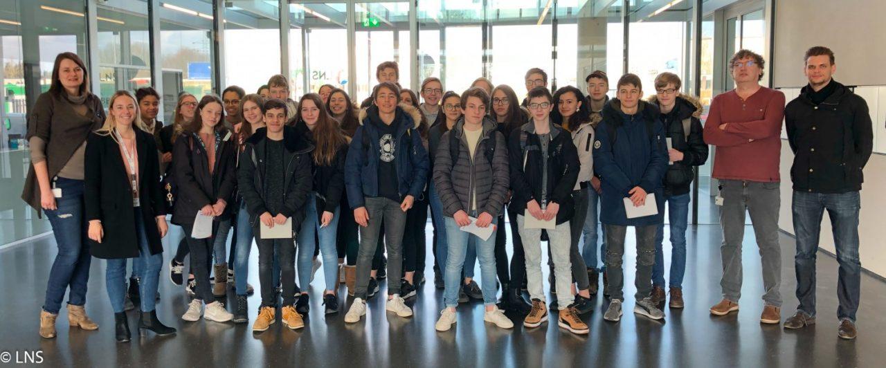 Visite d'une classe de 5e du Lycée Aline Mayrisch