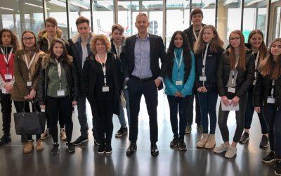 Visite d'élèves du Lycée Nic Biever