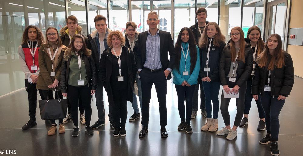 Visite d'élèves du Lycée Nic Biever de Dudelange