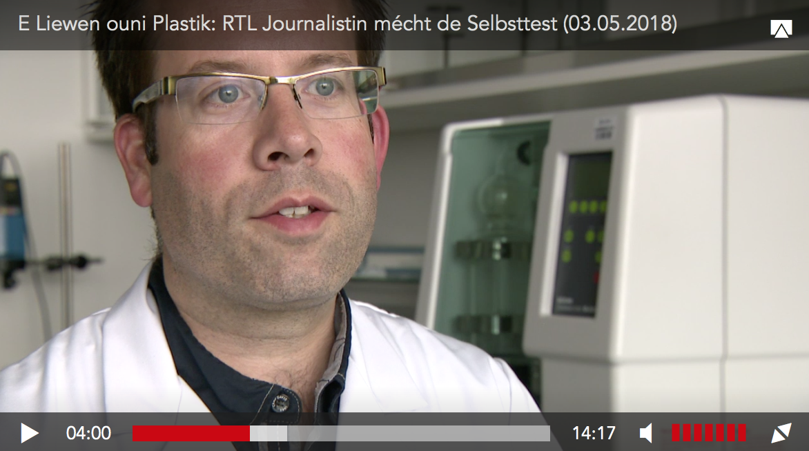 Reportage RTL sur la consommation de plastic