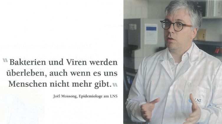Interview de l'épidémiologue Joël Mossong: «Menschen sind auch nur Tiere»
