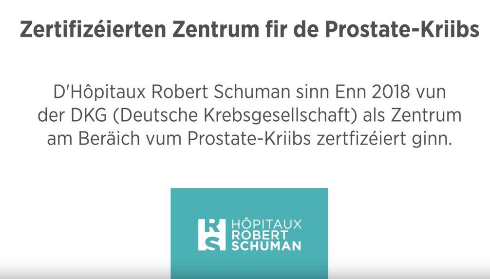 Prostatakarzinomzentrum – Zertifizéierten Zentrum fir de Prostate-Kriibs