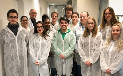 Visit of students from the Lycée technique pour professionnels de santé