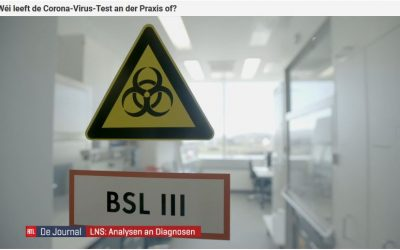 TV report on the analysis of the Coronavirus at LNS