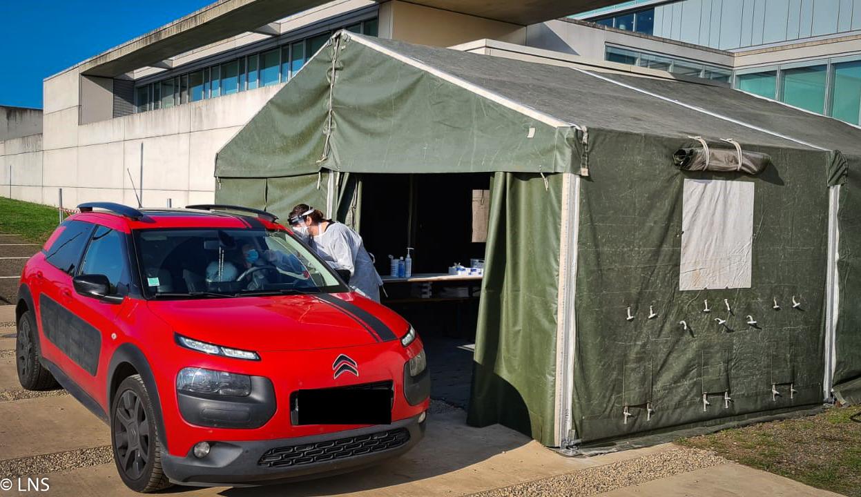 Le Centre de Prélèvement COVID-19 sur le site du LNS à Dudelange est opérationnel