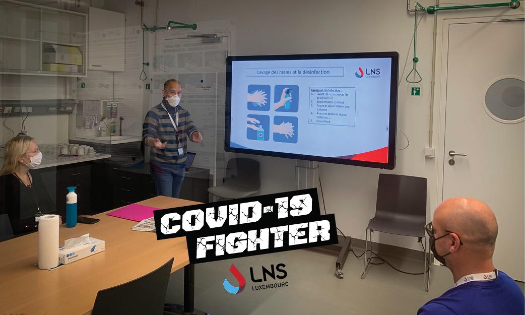 COVID-19 :  Le LNS soutient les équipes de test dans les écoles