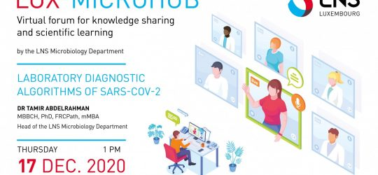 LUX-MICROHUB webinar – Laboratory Diagnostic Algorithms of SARS-CoV-2