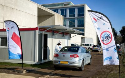 New opening hours of the LNS COVID-19 drive-in test center