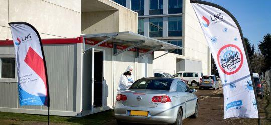 Nouveaux horaires d'ouverture du centre de prélèvement COVID-19 du LNS