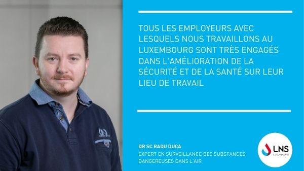 Le LNS contribue à rendre les lieux de travail plus sains au Luxembourg