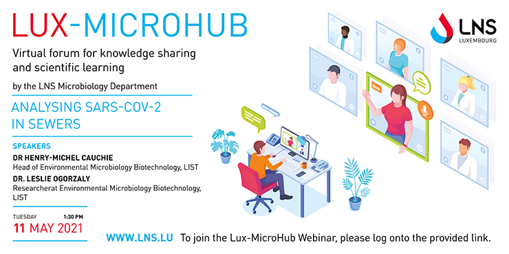 LUX-MICROHUB webinar – Analysing SARS-CoV-2 in sewers: an effective way to monitor epidemiological status of human populations
