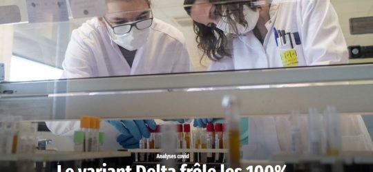 Wort – Le variant Delta frôle les 100%