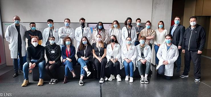 Les étudiants du nouveau Bachelor en Médecine au LNS